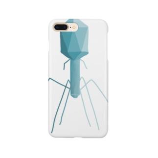 T4ファージ あお Smartphone cases