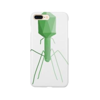 T4ファージ みどり Smartphone cases
