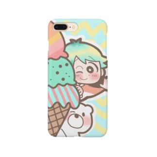 しろくまのアイスクリーム大作戦! Smartphone cases