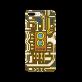 BAD FACTORYのBF配管 ゴールド スマートフォンケース