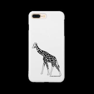 陽向のきりん(モノクロ) Smartphone cases