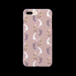 Fanfleecyのferret(pink brown) Smartphone cases