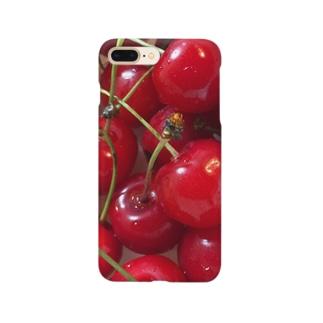 果実酒のさくらんぼ Smartphone cases