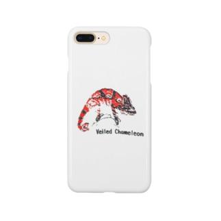 シルクスクリーン 【エボシカメレオン】レッド Smartphone cases