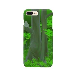 シマフクロウの森 Smartphone cases