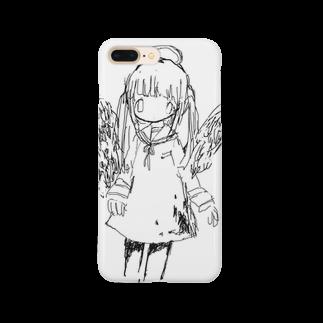 「ごめん々ね」と言っの天使の絵 スマートフォンケース