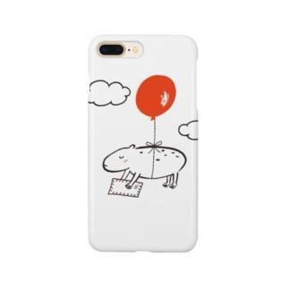 カピバラ風船 Smartphone cases