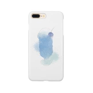 蒼いクリームソーダ Smartphone cases