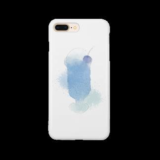 白山 静の蒼いクリームソーダ Smartphone cases