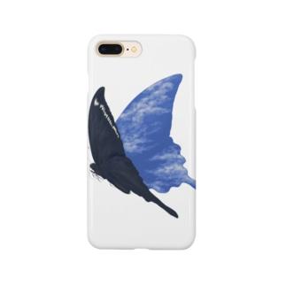 空飛ぶ黒揚羽 Smartphone cases