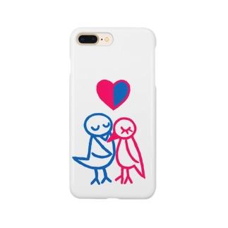 とりのカップル Smartphone cases
