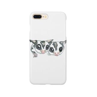 仲良しフクロモモンガ Smartphone cases