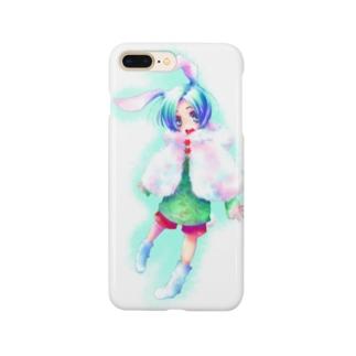青うさぎ Smartphone cases