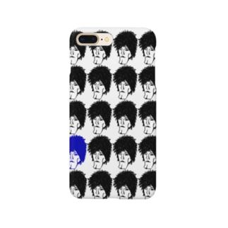 顔が沢山02 Smartphone cases
