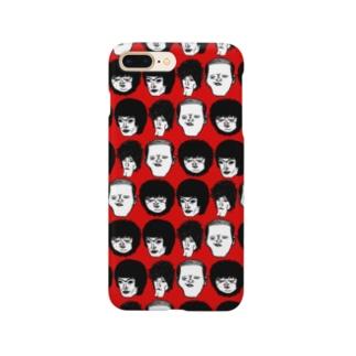 顔集合赤 Smartphone cases