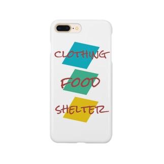 衣食住Tシャツ Smartphone cases
