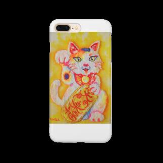 楽描処いずっちの笑門来福 Smartphone cases