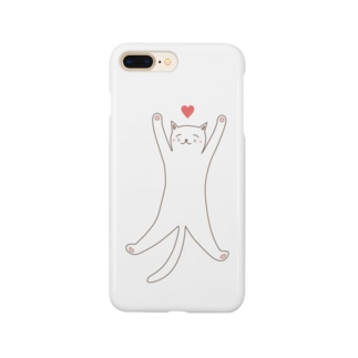 STRETCHING CAT Smartphone cases