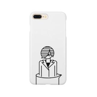ビーカーから白衣の女の子 Smartphone cases