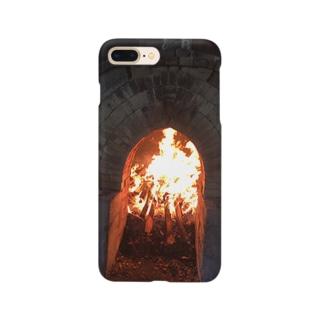薪窯の火 Smartphone cases