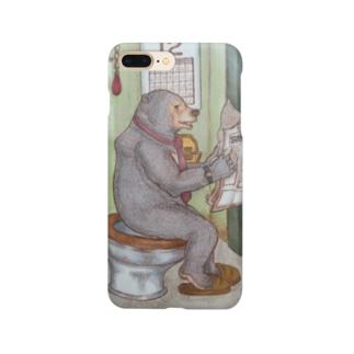 トイレで新聞を読むマレーグマ Smartphone cases