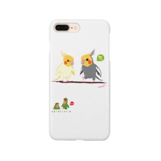 どノーマルオカメインコとルチノーちょいわき Smartphone cases