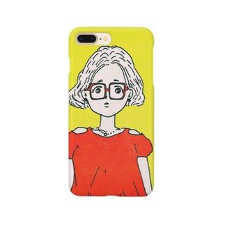 メガネ女子 Smartphone cases