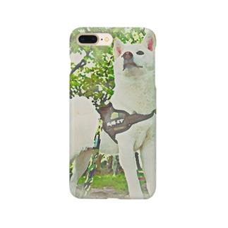 白柴犬のスマホケース Smartphone cases