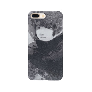 物憂い女の子 Smartphone cases