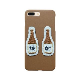 刺繍で作った焼酎 Smartphone cases