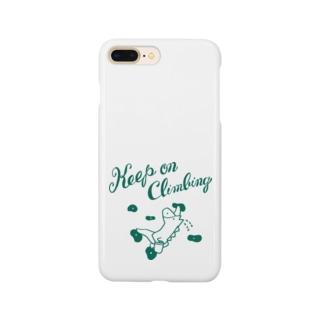ボルダリングの馬 - こまじ(緑) スマートフォンケース