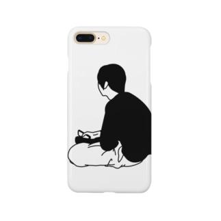 虚空を見つめる疲れた人 Smartphone cases