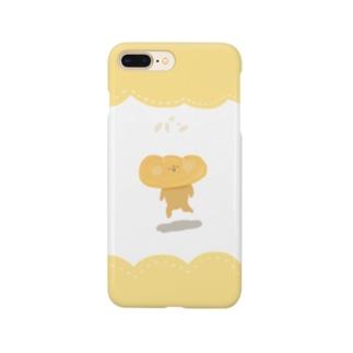 ふちどりパン(とり) Smartphone cases