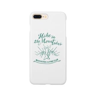 山登りの馬 - こまじ(緑) Smartphone cases