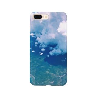 空の上からの写真 Smartphone cases
