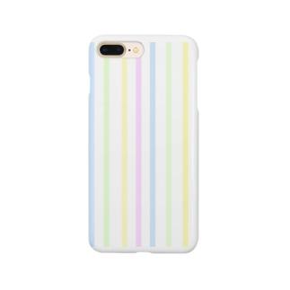 パステルストライプ Smartphone cases
