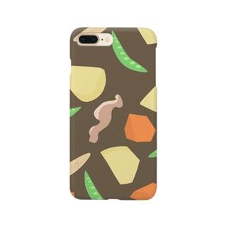 肉じゃが 茶 Smartphone cases