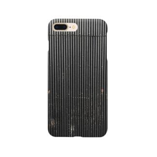 壁、黒トタン Smartphone cases