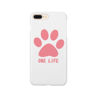 ONE LIFE(ピンク) Smartphone cases