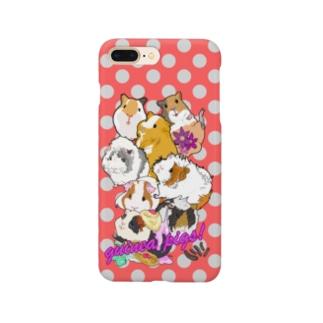 モルモット大集合レッドホワイトグレー Smartphone cases