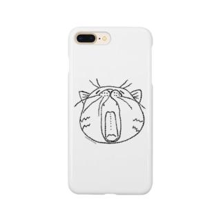 HBDあくびねこ Smartphone cases