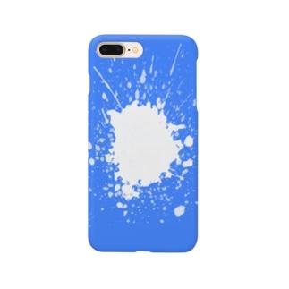 インクぺっちゃっ!(ブルー) Smartphone cases
