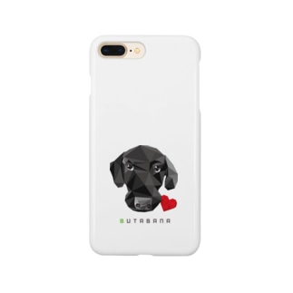 suzusimbaの豚鼻な黒ラブ Smartphone cases