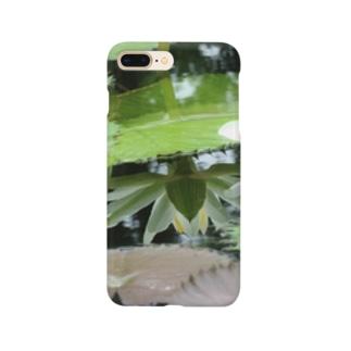 モネの庭 ハス 鏡 Smartphone cases