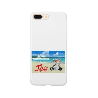 かわいいにゃんことワンコの絵のお店のにゃんこライダース Smartphone cases