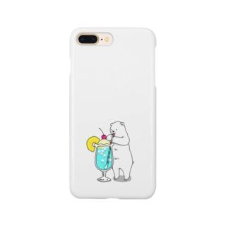シロクマとソーダ Smartphone cases