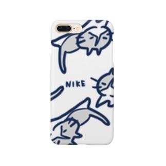 ハチワレ猫のニケ Smartphone cases