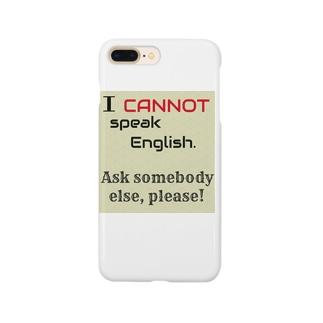 英語話せません! Smartphone cases