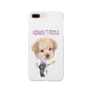 ミランダ.T.プードル Smartphone cases