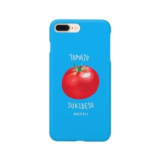 トマト好きです あざす スマートフォンケース